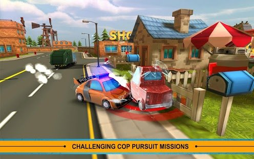 Скриншот Blocky Cop Pursuit Terrorist
