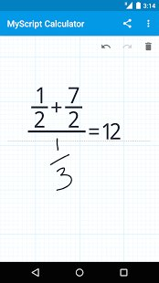 Скриншот MyScript Calculator