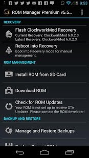 Скриншот ROM Manager