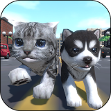 Иконка Cute Pocket Cat And Puppy 3D