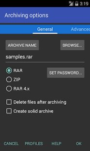 Скриншот RAR for Android