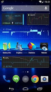 Скриншот 3C Battery Monitor Widget Pro