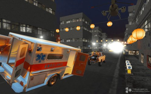 Скриншот Ambulance Gun Run Racing 3D