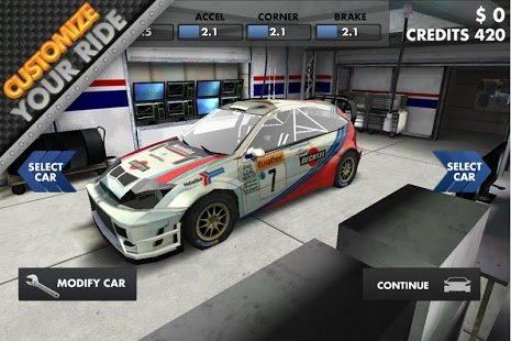 Скриншот World Rally Racing HD