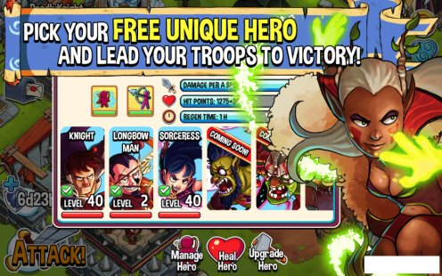 Скриншот Battle Heroes:Clash of Empires