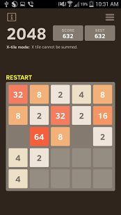 Скриншот 2048 Number puzzle game
